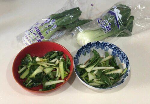 らでぃっしゅぼーや チンゲン菜 比較